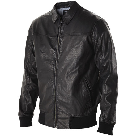 Look cool without draining your bank account with the Nixon Rider Faux Leather Men's Jacket. It's made with polyurethane faux leather so it doesn't cost an arm and a leg, plus you don't have to be responsible for the death of an innocent, defenseless, delicious cow. Anyone up for a burger - $99.95