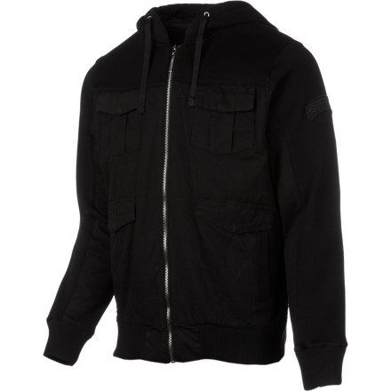 They say women love a man in uniform, so get your share of the ladies' attention in the SUPERbrand SUPERbrigade Men's Fleece Jacket. The military-inspired styling provides a unique look that will help you stand out from the rest of the guys at the bar. - $58.77