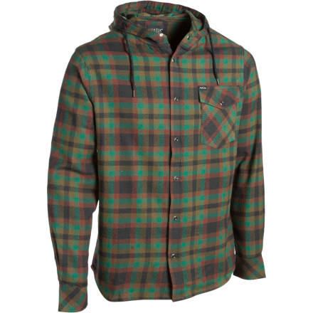 Skateboard A hoody with logos plastered on the chest might look cool when you're sixteen, but you're sixteen and three-quarters now, so maybe it's time for something like the Men's Hampshire Hooded Flannel Shirt. A long fit hangs below the waist and the soft cotton material fends off the cold while you skate around the neighborhood or down at the park. Flannel blends into the crowd with a clean look, but in a strange way, it stands out with a little unique style. - $28.98