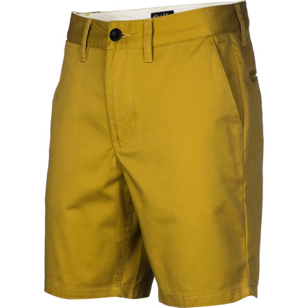 You may still think the homeless look is still cool, but it's also the reason for the noticeable lack of phone numbers you've been getting lately. Step up your game with the fresh-looking Analog AG Chino 19in Men's Short and end the drought. - $33.57