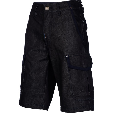 Try an updated take on the cargo short with the LRG Family Operation Classic Men's Denim Cargo Short. It has a loose fit and side cargo pockets like the khaki versions you're used to, but with LRG's high quality cotton denim fabric instead. - $48.27