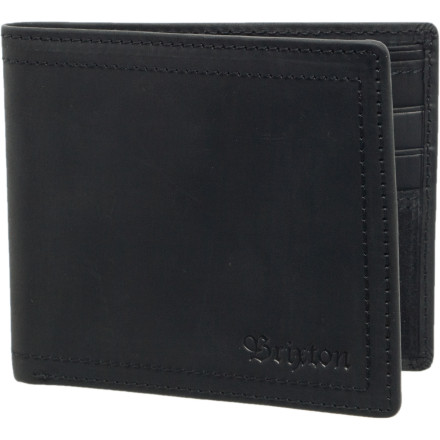 Entertainment Cram your valuables into the Brixton Mens Chord Wallet and watch it go to work. While youre staring at your wallet, watching nothing happen, you will notice its thin bi-fold design and classy understated styling. You will see two long pockets for your paper money or checks and you will think to yourself I dont have enough money to fill one pocket, let alone two. You will also notice slots for your ID, your fake ID, and four stolen credit cards. Or maybe just six stolen credit cards. Or six fake IDswhatever you want, really. Its your wallet. - $32.47