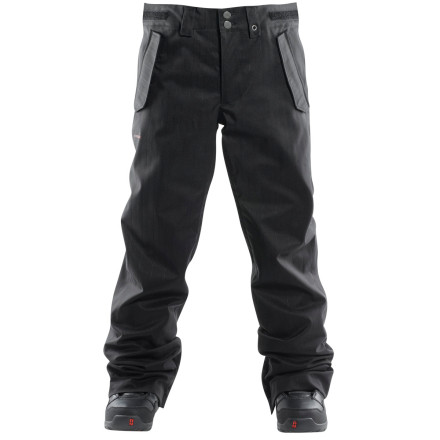 Snowboard Your design for a great day on the slopes begins with the right outerwear, including the Foursquare Men's Draft Pant. 10K/10K waterproof breathable ratings and fully taped seams ensure that this slim-fit shell pant will see you through in comfort and style. - $71.98