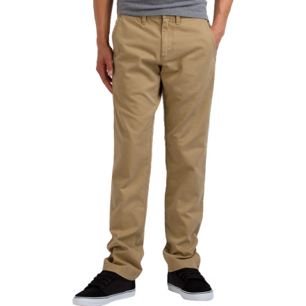 Skateboard Slim and stylish is the name of the game for the Vans Excerpt Men's Chino Pant. This comfy chino has the look of a dressier pant with the slim fit of your favorite pair of jeans. - $49.45
