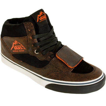 Skateboard Instead of suffering with powder-packed skate kicks lace up the Van's Men's Mt. Edition Winter Shoe and slay the skate park throughout the winter. Bomber high-top cuffs use sturdy leather and canvas to keep you from rolling an ankle, and a hook-and-loop closure locks down your laces. Mom will be proud that you actually put on a pair of 'boots' to go snow-skating in. - $24.48