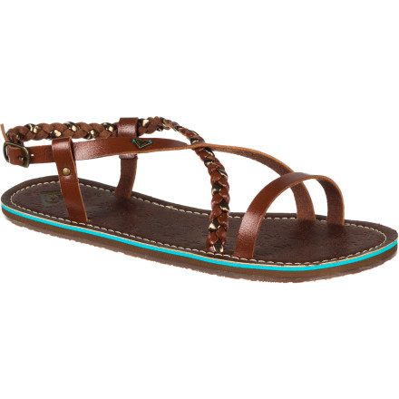 Surf Slip your feet into the Roxy Women's Carlota Sandal when you want your feet to feel free and naked, but you need something with a little more class than a pair of foam flip flops. - $31.20