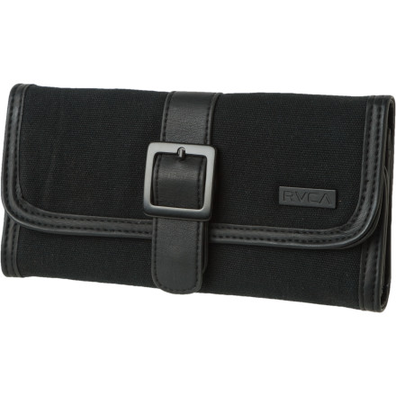 Entertainment The RVCA Women's Lori II Wallet keeps your monies organized so you don't keep trying to pay for dinner with your student ID card. - $15.98