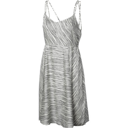 Golf The Quiksilver Women's Salt Water Stripe Dress keeps you cool and comfortable while you sit on the porch drinking lemonade and listening to Grandpa's stories. It also keeps you comfortable later when you head out to play some mini-golf and eat cotton candy on the boardwalk. - $66.30