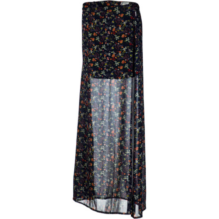 Skateboard The Element Women's Lyric Skirt  is like a seductive see-through veil for your legs. The sheer fabric lets you show off your stems while you keep them covered. - $37.09