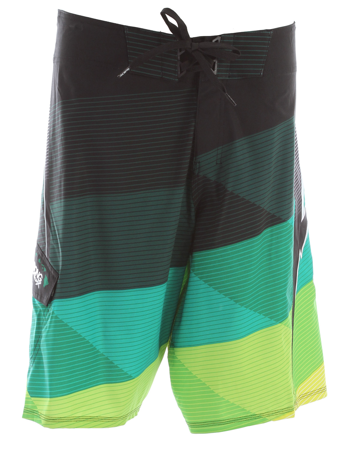 "Surf Key Features of the Billabong Conquer Boardshorts: 22"" Recycler Zero Gravity Recycler Platinum X Quad Stretch boardshort with an engineered geometric print and wave logo applique Recycler ZG fabric is light-weight with H2 Repel and epic stretch 87% recycled polyester/13% spandex - $48.95"