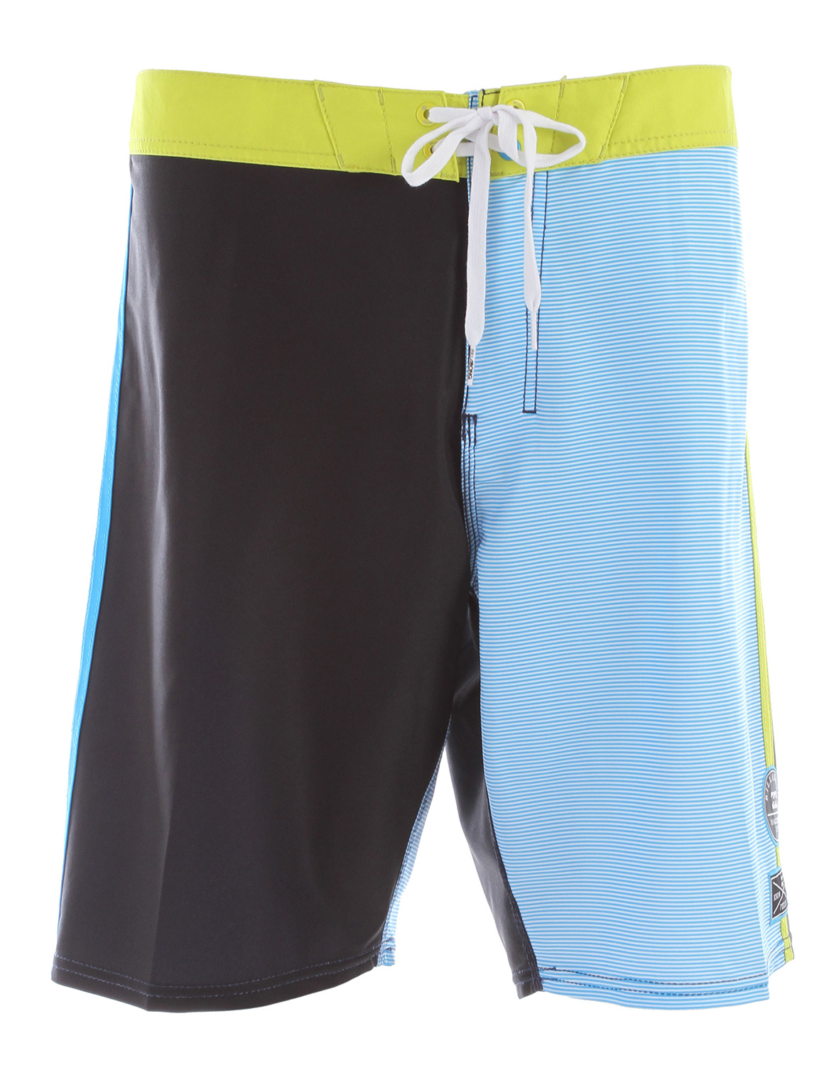 "Surf Key Features of the Billabong Legend Boardshorts: 19"" Hydros2stretch Platinum X Quad stretch boardshort with H2 Repel 2-tone break up stripe with contrast side binding 92% polyester/8% spandex - $41.95"