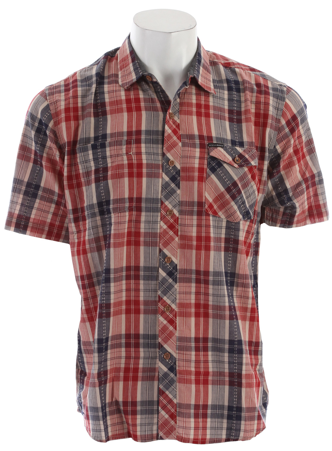 Fitness Key Features of the Billabong Dublin Shirt: Short sleeve yarn dye plaid with a vertical dobby texture running throughout Contrast pocket styling Woven labeling and chambray fabric detailing 100% cotton - $32.95