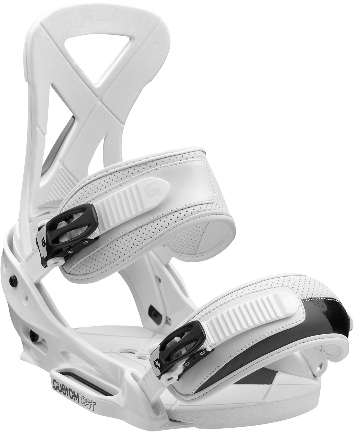 Snowboard Redefine your ride with breakthrough flex and feel.Key Features of the Burton Custom EST Snowboard Bindings: Response: 4 Baseplate: Single-Component Lightweight, Bomb-Proof Polycarbonate EST Hi-Back: Single-Component Canted Living Hinge Hi-Back with DialFLAD Straps: Lushstrap and Primo Capstrap Buckles: Smooth Glide Buckles Cushioning: Removable ShredBED 2.0 Cushioning System Rides Exclusively with Burton Boards Featuring The Channel - $132.95