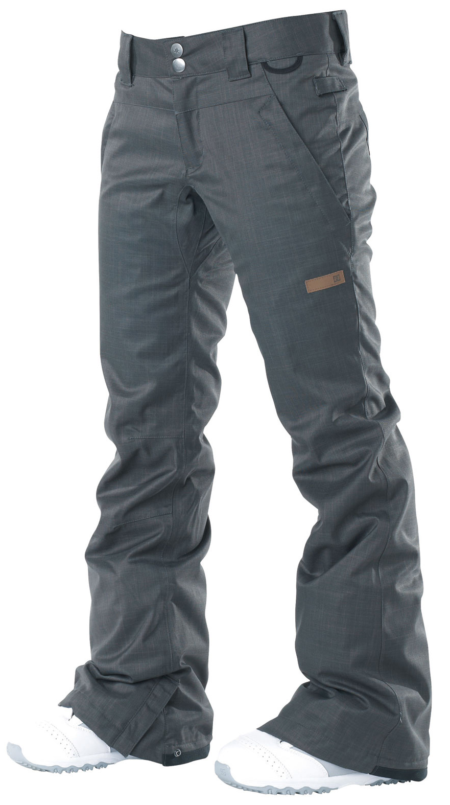 Snowboard With subtle cargo pockets, clean yet modern design, the ace pant is filled with all of dc's standard features. The added insulation will keep you warm in the coldest of climates. Available in both standard and tailored fits.Key Features of the DC Ace Snowboard Pants: 5,000mm waterproof 5,000g breathability Fit: standard 100% polyester micro twill midweight Critically taped seams 40g polyinsulation Taffeta lining Mesh lined venting Shant control Boot gaiter Snapped hem boot gusset Lift pass hook - $69.95