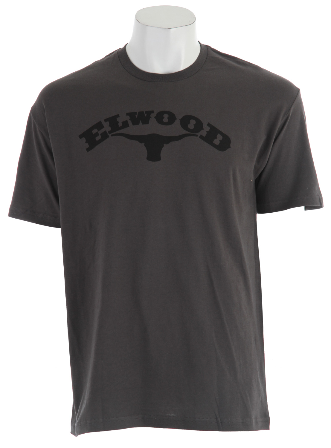From the company that set the bar for skate-worthy apparel comes another timeless t-shirt design. The Elwood Old West T-shirt is a nod to the original extreme lifestyle. Kick-ass pioneer spirit shows in the longhorn silhouetted on this t-shirt's chest, with horns that span the Elwood name. Enjoy flawless fit and incomparable comfort in this all cotton short sleeve crew neck tee. Elwood apparel always exceeds expectations, and their Old West natural fiber t-shirt is no exception. - $13.95