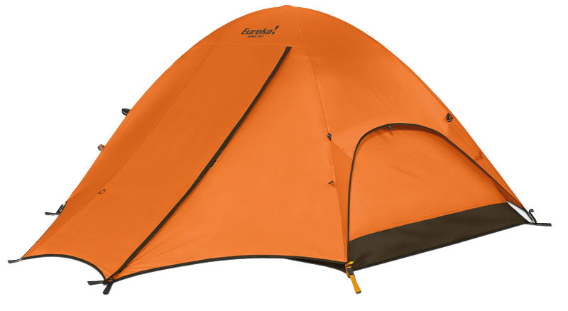 "Camp and Hike Versatile fiberglass 2 pole dome tents are ideal for those less demanding adventures. Unique fly design offers protected wet weather performance or can be rotated 180 degrees for easier tent access in fair conditions.Key Features Eureka Apex 3XT 3 Person Tent: Fly: The full coverage fly features two roomy vestibules that provide weatherproof storage and dry tent entry. Free Standing / Shockcorded Fiberglass Frame: The tent's free standing and shockcorded fiberglass frame with post & grommet assembly is lightweight and easy to set up. Side-Opening / Twin-Track Doors: Two side-opening, twin-track doors, consisting of one no-see-um mesh panel and one fabric panel, allow flexibility for venting and insect protection. Zipper Covers: Zipper covers on the fly provide protection from water. Interior Pockets: The interior corner pockets can be used to keep the door fabric conveniently tucked away. Gear Loft: A gear loft provides extra storage overhead. Bathtub Floor: Bathtub floor wraps up sides of tent, protecting against splashing and standing water. Sleeps 3 Floor Size 7' 6"" x 6' 6"" Pack Size 6"" x 24"" Min Weight 8 lbs 4 oz Seasons 3 Tent Area 48.75 sq ft Center Height 4' 3"" Frame 9.5 mm fiberglass, post & grommet Vents 4 Doors 2 with Hi/Low venting Windows 2 Vestibules 2 Vestibule Area 13.93 sq. ft (front) / 13.93 sq ft (back) Gear Loft 1 Included Gear Loft Loops 4 Flashlight Loop 1 Storage Pockets 4 Wall 75D 190T polyester taffeta, 800 mm coated Fly 75D 190T polyester taffeta, 800 mm coated Floor 75D 190T polyester taffeta, 800 mm coated Mesh 40D no-see-um - $159.95"