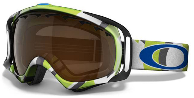 Snowboard A versatile goggle with clean style and a comfortable fitKey Features of the Oakley Crowbar Goggles:   Streamlined frame design for expanded peripheral vision   Flexible O Matter chassis conforms to your face   Rigid O Matter strap outriggers provide a balanced fit, with or without a helmet   triple-layer fleece face foam to enhance comfort and seal out the elements   Dual-vented lenses with f3 antifog coating   Medium fit - $97.95