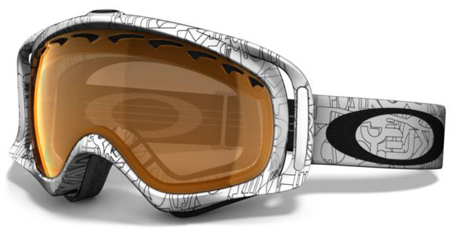 Snowboard A versatile goggle with clean style and a comfortable fit. Key Features of the Oakley Crowbar Snowboard Goggles: Streamlined Frame Design For Expanded Peripheral Vision Flexible O Matter Chassis Conforms To Your Face Rigid O Matter Strap Outriggers Provide A Balanced Fit With Or Without A Helmet Triple Layer Fleece Face Foam To Enhance Comfort And Seal Out The Elements Dual Vented Lenses With F3 Anti Fog Coating Medium fit - $82.95