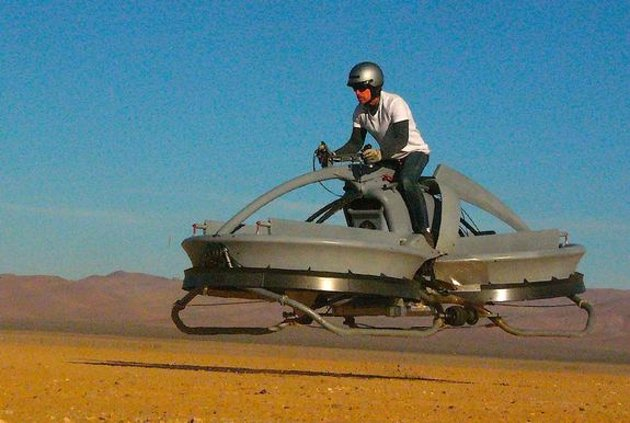 Entertainment New Hover Vehicle Recalls 'Star Wars' Bike