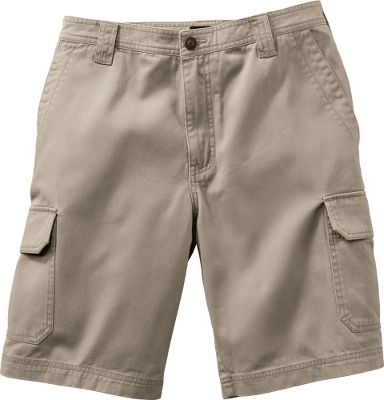Entertainment Crafted of durable 8-oz. cotton twill, these trail-worthy shorts are peached and enzyme washed for a surprisingly soft feel. Carry essentials in the two slash front pockets, two back welt pockets and two generous cargo pockets. Six belt loops. Machine washable. Imported.Inseam: 10.Even waist sizes: 32-44.Colors: Stone, Khaki. Waist: 40. Type: Shorts. Size: 40. Color: Stone. Waist 40. Color Stone. - $28.88