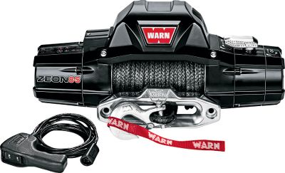 Motorsports Packed with the performance and features off-roaders demand, the Warn Zeon Truck Winch is engineered with innovation from the ground up to get you back on the trail fast. Best-in-class sealing keeps intrusive elements away from interior components. Automatic mechanical brake holds the full rated load and delivers exceptional winching control. Fast and reliable three-stage planetary gear train. Convertible control pack allows for custom mounting. Available with steel or Warns Spydura synthetic rope. Manufacturers limited lifetime warranty. Available: Zeon 8 Steel Rope 8,000-lb. capacity Zeon 8 Synthetic Rope 8,000-lb. capacity Zeon 10 Steel Rope 10,000-lb. capacity Zeon 10 Synthetic Rope 10,000-lb. capacity Zeon 12 Steel Rope 12,000-lb. capacity Zeon 12-Synthetic Rope 12,000-lb. capacity Zeon Multi-mount Type: Winches. - $239.99