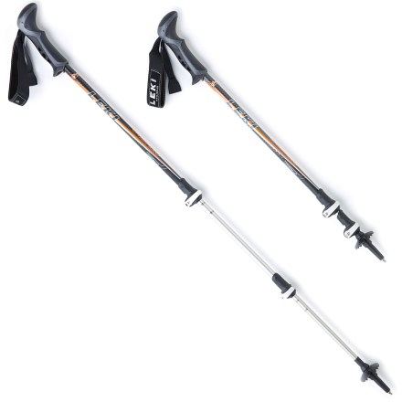 Camp and Hike The Leki Cristallo SpeedLock trekking poles will help reduce stress on your knees by supporting and stabilizing you on the trail. - $82.93