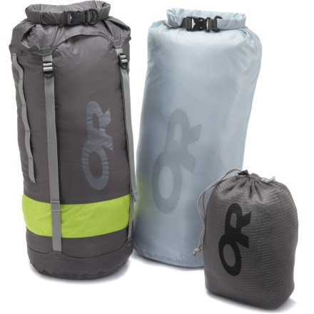 Camp and Hike Nobody likes a wet sleeping bag. The Outdoor Research Dry Backpackers kit will protect your sleeping bag and clothing from wet weather when you're on the trail. - $34.83