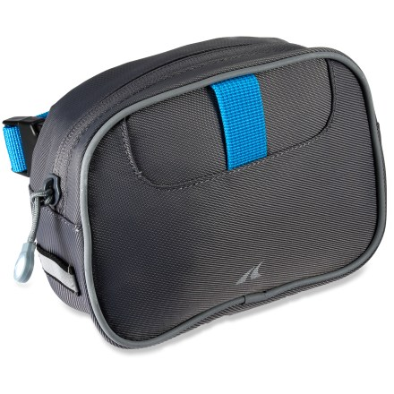 Fitness Simple and easy, Detours The Day Pass handlebar bag keeps your riding necessities front and center and easily accessible. Carry a flat kit, keys, phone, wallet and even a small digital camera in the zippered main compartment. Interior features organization options and a key clip. Detours The Day Pass bag is easy to affix to any handlebar setup, thanks to the simple webbing and quick-release straps. - $17.93