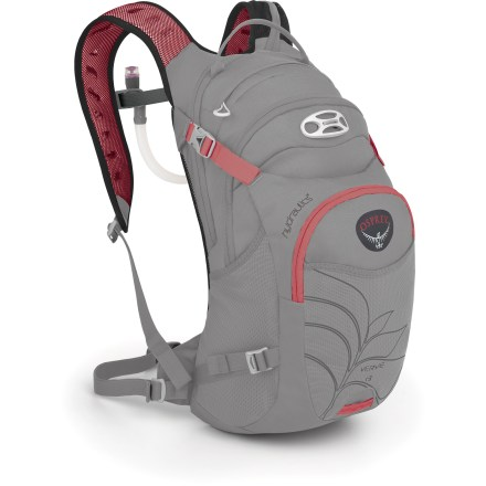 Fitness The women-specific Osprey Verve 13 hydration pack totes your gear plus 3 liters of water for those epic rides that go beyond 3 hours. - $92.93