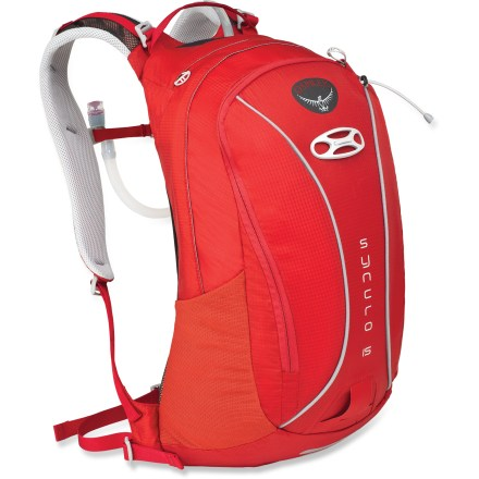 Fitness Offering a moderate amount of gear-carrying capacity, airy ventilation and a 100 fl. oz. reservoir, the Osprey Syncro 15 hydration pack is well-suited to your day's journeys. - $71.93