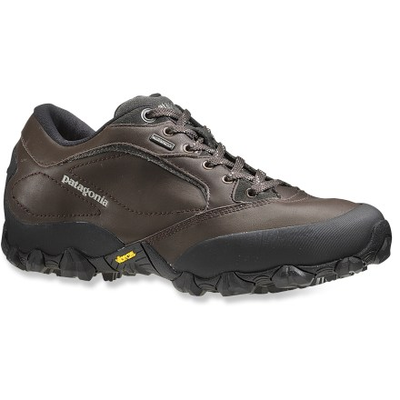 Camp and Hike The Patagonia Drifter 2.0 waterproof men's hiking shoes offer lightweight support and cushioning for hikes on all sorts of terrain. - $79.83