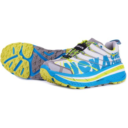 Fitness Take your trail running to the next level with the Hoka One One Stinson Evo trail-running shoes. With amazing stability, traction and cushioning, you'll enjoy lasting comfort, mile after mile. - $84.83
