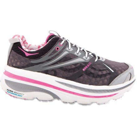 Fitness The lightweight Hoka One One Bondi B 2 road-running shoes offer maximum cushioning in the midsoles, and rockered outsoles, giving you a shoe that is optimized for running efficiency. - $79.83