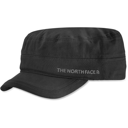 Sports Soldier on in summer style in the The North Face Logo Military hat. Made of a soft cotton with a touch of elastane for comfort and ease of care. Rear strap adjusts easily with a clip closure. - $33.00