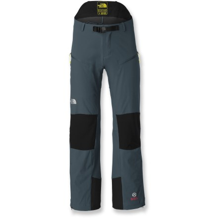 Camp and Hike The North Face Meteor men's pants with 30 in. inseam provide the toughness and protection of hard-shell pants but recall their soft-shell roots with stretchy breathability that keeps you comfortable. Pertex(R) Equilibrium(R) stretch nylon is coated with a Durable Water Repellent finish so that water beads up and rolls off, keeping you dry in light showers or snow. Lightweight nylon material also wicks moisture away from skin, offering total moisture control inside and out for your continual comfort. Stretch woven panels on back of thighs and lower legs promote breathability and reduce bulk. Low front waist with integrated webbed belt keeps everything streamlined for zero interference with packs or harnesses; higher rise in the back minimizes movement under packs. Articulated knees allow for full range of motion; zippers at the cuffs widen the pant leg so they go over boots easily. The North Face Meteor pants with 30 in. inseam feature 2 zippered thigh pockets and 1 zippered rear pockets for securing small essentials. The Summit Series(TM) apparel is designed and tested for use in harsh environments. - $73.83
