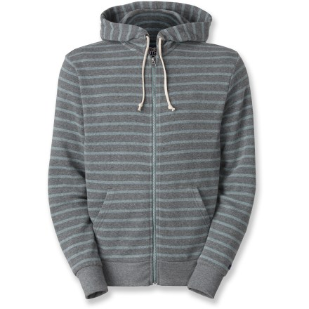Climbing As the sun sets on your evening of climbing with friends, pull on The North Face Merced Peak full-zip hoodie to stay warm. Soft blend of polyester, cotton and rayon takes the chill out of a cool afternoon. Cinch the hood around your head when the wind picks up. Hand pockets keep your fingers warm. - $54.93