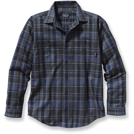 Upping the ante on the average button-front shirt, the Patagonia Pima Cotton shirt is made of soft, organic cotton in a low-key, classic style. Made from certified 100% organic cotton for breathable comfort and easy care. Patagonia Pima Cotton shirt features 2 patch pockets on chest. Closeout. - $54.93