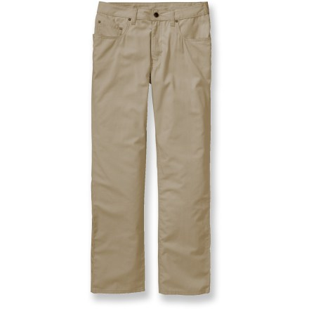 Camp and Hike The Patagonia Guild pants offer clean, classic style-an essential building block for any wardrobe. Organic cotton canvas offers lightweight, breathable comfort and durability. Traditional 5-pocket styling provides easy storage. Patagonia Guild pants feature a trim, straight-leg fit. Closeout. - $47.73