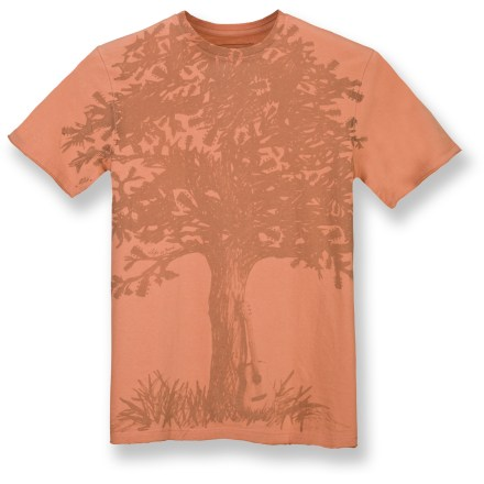 The Life is good(R) Organic Sueded T-shirt is extremely soft and breathes easy thanks to organic cotton. Hemlines are split for a raw edge that provide softness and style. Toxic pesticides are eliminated in every step of the growing process of organic cotton. Closeout. - $15.73