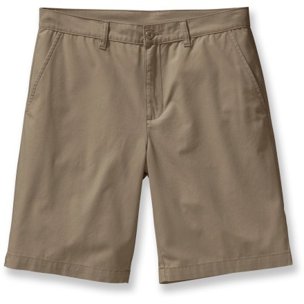 Surf Built to keep you comfortable on adventures you'll have today, tomorrow and five years from now, the Patagonia All-Wear shorts offer classic flat-front chino styling that never looks out of place. Made from certified 100% organic cotton for breathable comfort and easy care. 2 front slash pockets and 2 rear welt pockets. Closeout. - $36.93