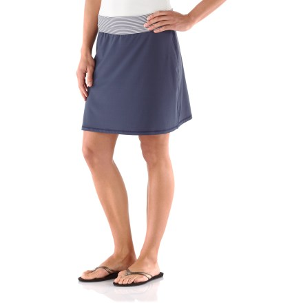 Fitness Pull on the charming Seaside skirt over your swimsuit bottoms or wear it to your favorite beachfront restaurant for dinner. Soft and stretchy, water-ready fabric offers UPF 50+ sun protection, shielding skin from harmful ultraviolet rays. Seaside skirt has a fold-over waistband. - $33.93