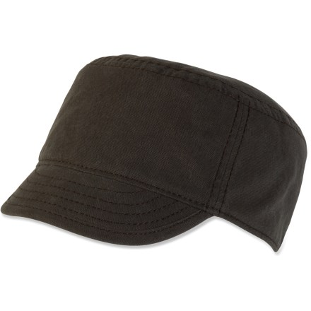 Pull on the prAna Jett Set cadet hat for a stylish new look that's perfect for summer weather. Organic cotton canvas exterior; contrasting interior adds appeal. - $7.83