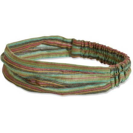 Fitness With a touch of style, the prAna Missy headband keeps your hair in place and sweat out of your eyes during your yoga practice. Elastic in back allows for a comfortable fit. - $8.93