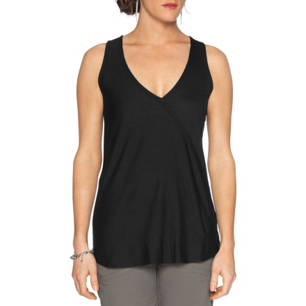 Surf The breathable Nau Ayre tank top keeps you cool and comfortable. Layer it or wear it all by itself on warm, sunny days. Skin-soft organic cotton jersey and Tencel(R) lyocell blend gives this gauzy shirt its luxurious drape and exceptional comfort. Nau Ayre tank top is ultra lightweight, breathable, quick drying and moisture wicking. Asymmetric crossover design at front and back. Ghosted stripes offer surprising visual and tactile texture. Slim fitting. - $34.93