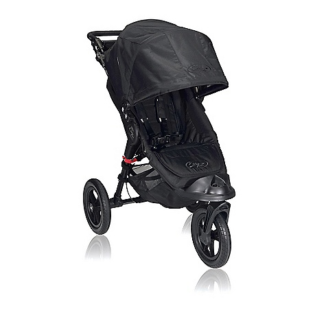 Entertainment Free Shipping. Baby Jogger City Elite Single Stroller DECENT FEATURES of the Baby Jogger City Elite Single Stroller Patented Quick-Fold Technology - allows you to fold your stroller with one hand Swivel front wheel for quick and agile maneuverability can lock into place for long distance strolling 12in. forever-air quick-release tires navigate smoothly over any terrain Raised kicker accommodates smaller children and provides easy access to the under seat basket Multi-position sun canopy with clear view windows and side ventilation panels that secure with magnets Plush padded seat reclines to a near flat position with a vented seat top and retractable weather cover Universal accessory mounting bracket Adjustable handlebar to accommodate individual users Soft handlebar console with multiple storage compartments Front wheel suspension provides a smooth comfortable ride Seat back storage compartment and large under seat basket Adjustable padded five-point safety harnesses Hand operated parking brake Removable auto-lock to keep stroller closed when folded 75 lb. weight capacity on stroller The SPECS Seat back: 19.5in. Head height: 23in. Shoulder width: 12/5in. Seat to knee: 10in. Knee to footplate: 9in. Width to Knee: 14in. - $399.95