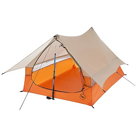 Camp and Hike On Sale. Free Shipping. Big Agnes Scout 2 Tent DECENT FEATURES of the Big Agnes Scout 2 Tent Storage Bins built in at head of tent Single door, no vestibule Single wall with full eve and rear vent system, to keep air circulating Reflective guyline and webbing at tent corners and suggested anchor points Silicone treated nylon rip-stop with 1200mm waterproof polyurethane coating Vents are polyester mesh All seams taped with waterproof, solvent-free polyurethane tape (No PVC or VOC's) Trekking pole system (Not Included) Requires 2 Trekking Poles 12 Superlight aluminum J stakes 2 interior storage bins Gear loft loops included Footprint sold separately Fits Wall gear loft The SPECS Capacity: 2 Person Trail Weight: 1 lb 10 oz / 680 g Packed Weight: 1 lb 15 oz / 879 g Packed Size: 4 x 17in. / 10 x 43 cm Floor Size: 34 square feet / 3.2 square meter Floor Length: 90in. / 229 cm Floor Width: 54in. / 137 cm Head Height: 43in. / 109 cm Footprint Weight: 5 oz / 142 g - $223.96