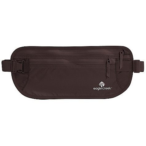 Entertainment Features of the Eagle Creek Undercover Money Belt DLX Two zippered pockets for organization of Passport, currency and itineraries Durable and lightweight nylon ripstop Moisture-wicking and breathable mesh back panel Slip pocket on back for waist strap storage Soft adjustable elastic waistband with strap keeper - $20.95