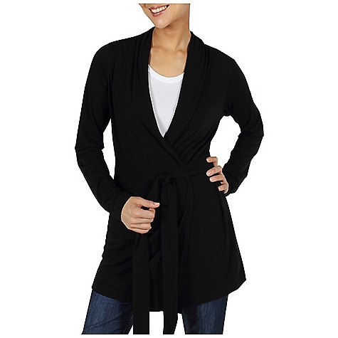 Free Shipping. Ex Officio Women's Go-To Wrap LS Top DECENT FEATURES of the Ex Officio Women's Go/To Wrap Long Sleeve Top Security zipper pocket Interior button for wrap belt Tagless label for added comfort Stretch: Stretch fabric provides maximum mobility and comfort during activity Odor Resistant: Resists growth of bacteria and fungus that cause odors Quick drying: Fibers release moisture easily so garment dries rapidly Wicking: Fabric moves moisture along the garment's surface away from the skin The SPECS Natural fit 81% Polyester/14% Cotton/5% Spandex DriRelease Go/To Stripe 85% Polyester/15% Cotton - $79.95