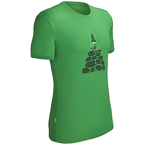 Free Shipping. Icebreaker Men's Tech T Lite SS Top Cairn DECENT FEATURES of the Icebreaker Men's Tech T Lite Short Sleeve Top Cairn 150gm jersey / 100% merino Set-in sleeves Aesthetic artist graphics feature humourous juxtaposition of nature with modern invention Regular fit Icebreaker pip label - $74.95