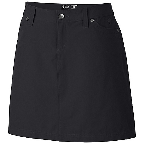 Free Shipping. Mountain Hardwear Women's La Strada Skirt DECENT FEATURES of the Mountain Hardwear Women's La Strada Skirt Durable stretch fabric for movement Center back pleat for mobility Hidden zippered coin pocket-inset in one hand pocket DWR finish repels water The SPECS Average Weight: 6 oz / 183 g Outseam: 22in. / 56 cm Body: Strolling Stretch Twill (94% nylon, 6% elastane) - $64.95